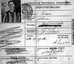 ledenkaart v.v.IJsselmeervogels  1939 - 1940